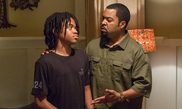 Calvin shares a moment with his son Jalen.