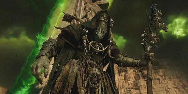 Gul'dan is the big bad sorcerer of the film.