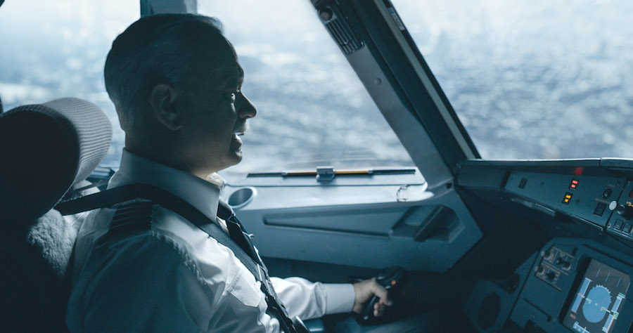 "Tom Hanks portrays Captain Chesley ""Sully"" Sullenberger"