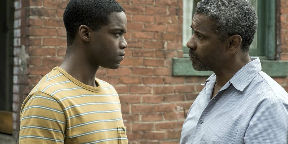 Troy tries to instill wisdom on his son Cory ( Jovan Adepo)