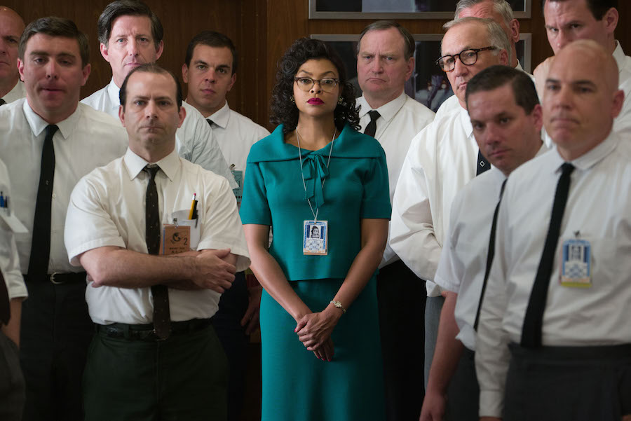 Katherine G. Johnson (Taraji P. Henson), stands out amid her team of fellow mathematicians that helped send into orbit John Glenn.